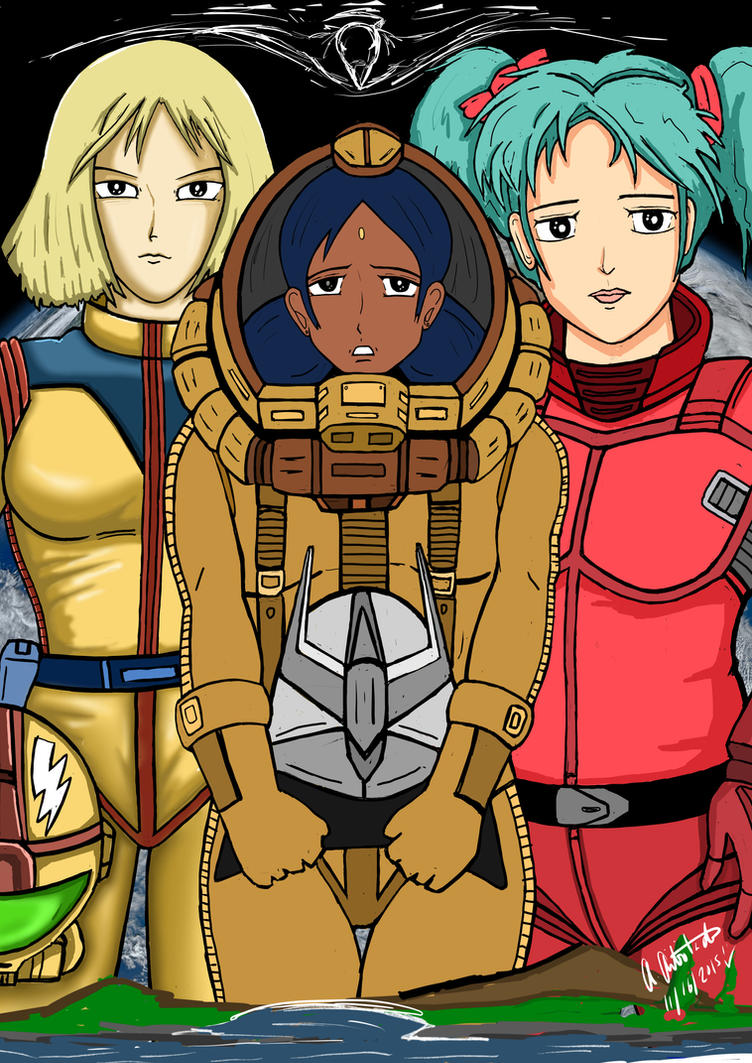 Sayla, Lalah, and Quess by archaznable30