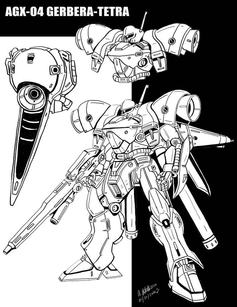 AGX-04 Gerbera Tetra drawing by archaznable30