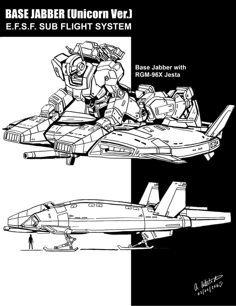 Base Jabber (Unicorn Ver.) line art by archaznable30