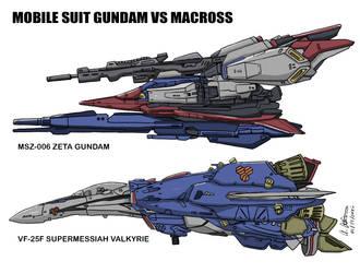 Zeta Gundam vs SuperMessiahValkyrie by archaznable30