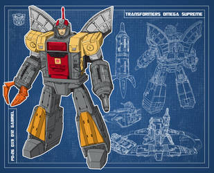 Blueprint Omega Supreme (PD-26 DX9 D12 Gabriel) by archaznable30