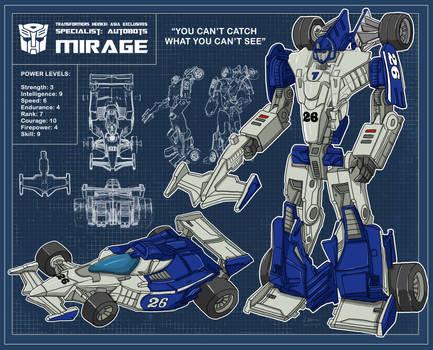 Blueprint Mirage Henkei Classic Specialist Autobot