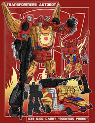 DX9-D06 Carry aka Rodimus Prime by archaznable30