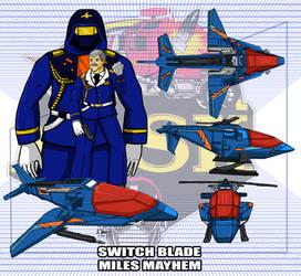 M.A.S.K. Switchblade / Miles Mayhem by archaznable30