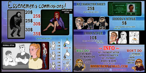 COMMISSIONS: open