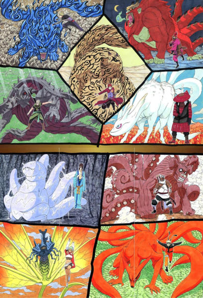 The Tailed Beasts by SandsofLanayru