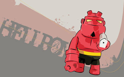 HellBoy vector wallpaper