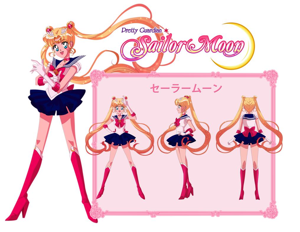 Character Design Challenge Sailor Moon : Sailor moon character sheet by scpg on deviantart