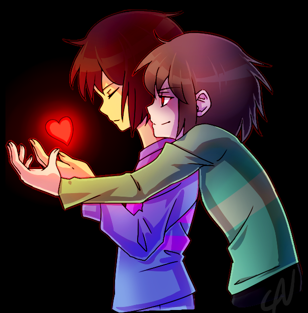 Chara x Frisk by ayloulou on DeviantArt