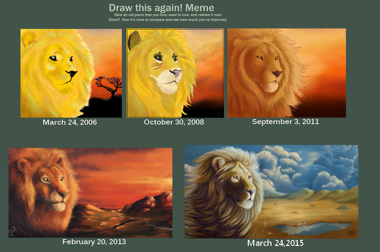 Draw This Again Meme Gold Lion by The-Hare on DeviantArt