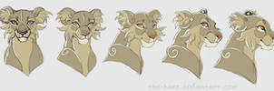 Style Test Turn Around- Lioness by TheVerdantHare