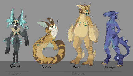 Finalised Twin Planet Races 4/? by TheVerdantHare