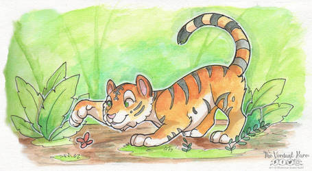 [Traditional] Mini Mighty Hunter by TheVerdantHare