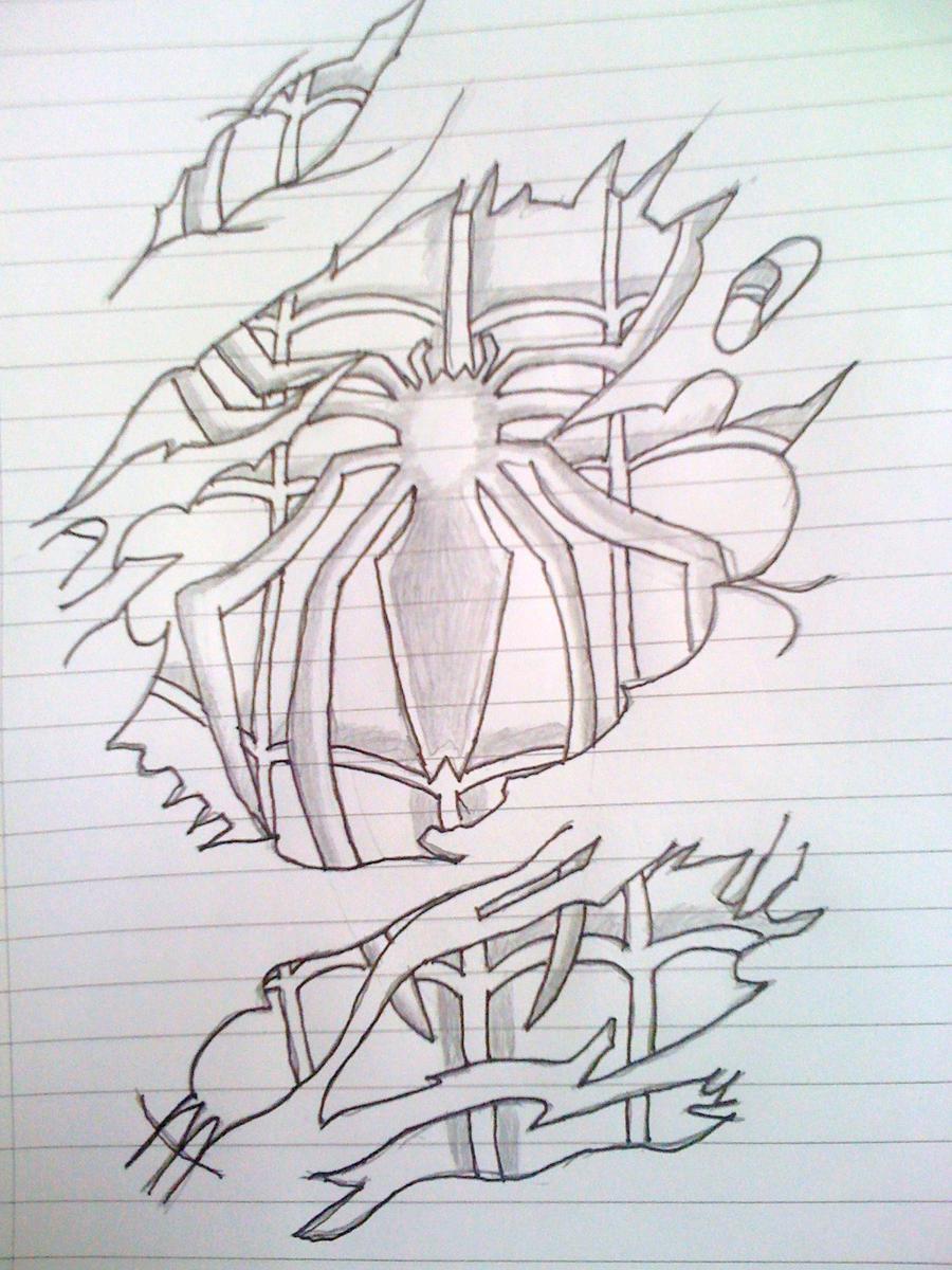Spiderman Tattoo Sketch By Mattyjm91 On Deviantart