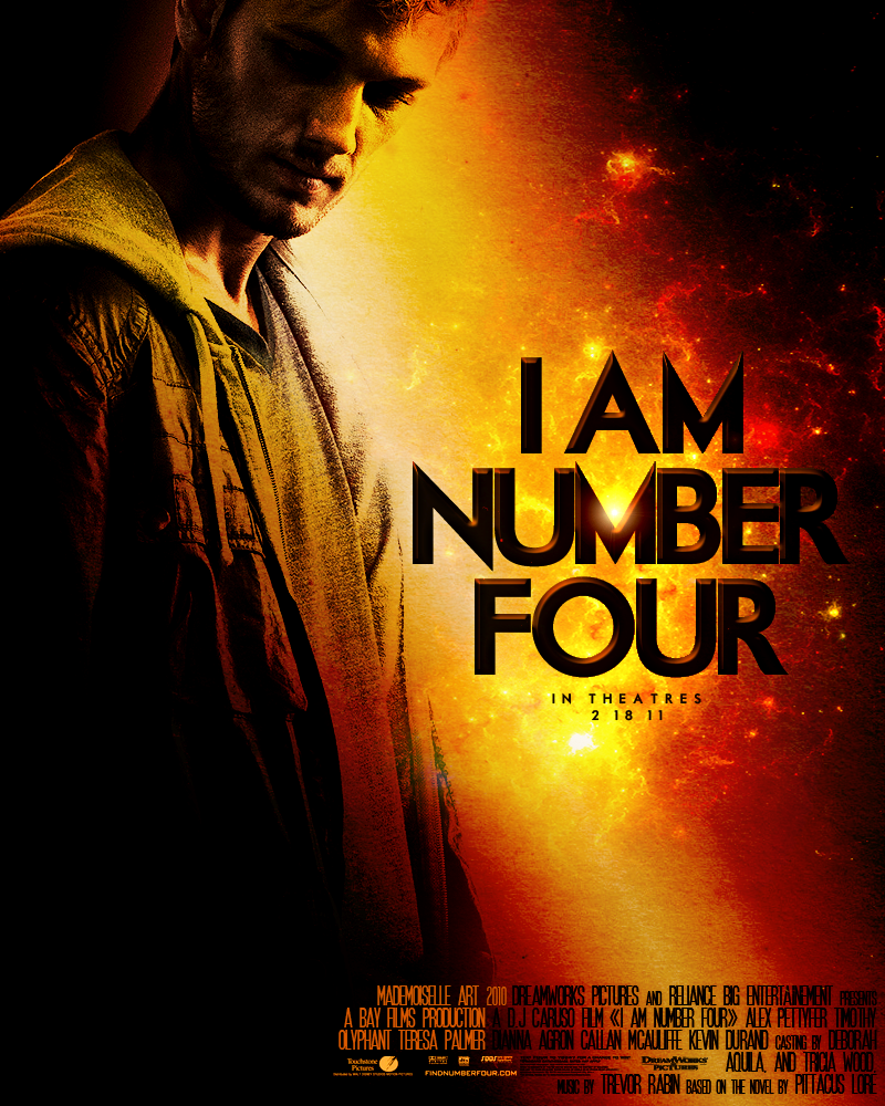 I am Number Four Movie Poster by mademoiselle-art on ... I Am Number Four Movie Poster