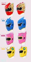 Godzilla Rangers! by chico-robot