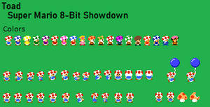 Toad (WIP) - Super Mario 8-Bit Showdown