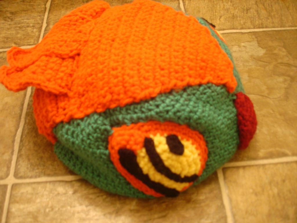 Free Crochet Pattern Pokemon Hat : Hawlucha Inspird Crocheted Pokemon Hat by ...