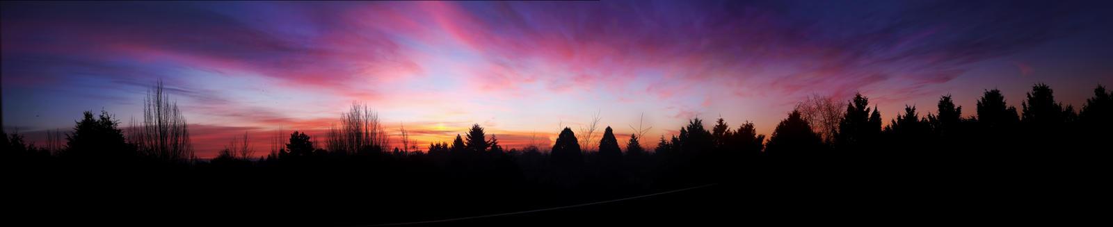 Vancouver Sky Sunrise Sunset Panoramic XL by dart47