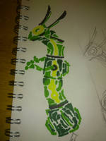 Rayquaza Quick study by Storm-Chasr