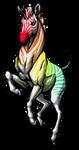 Rainbow Zebra by ewedy2