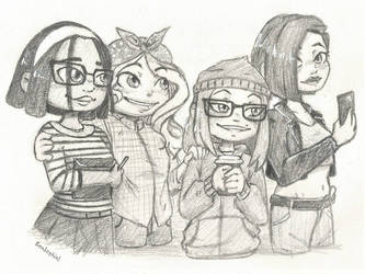 The ladies by ChicoTheCartoonist