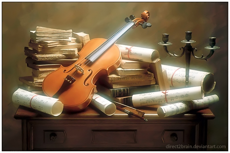The Old Violin by Direct2Brain