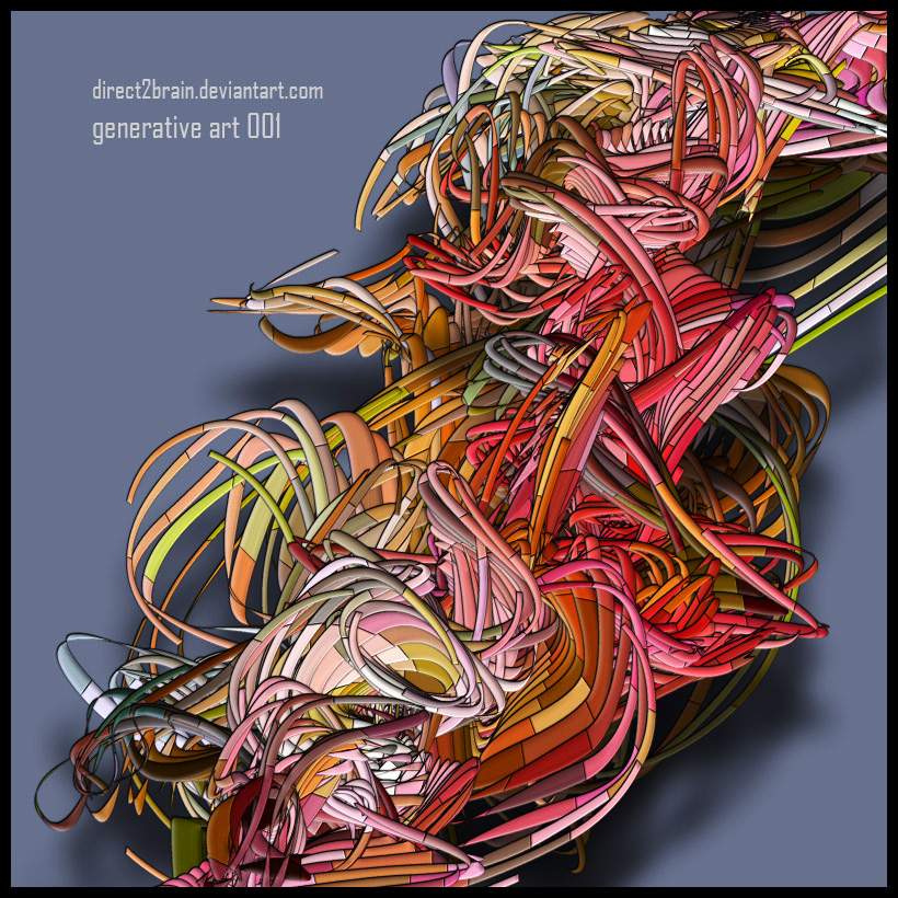 Generative Art 001 by Direct2Brain