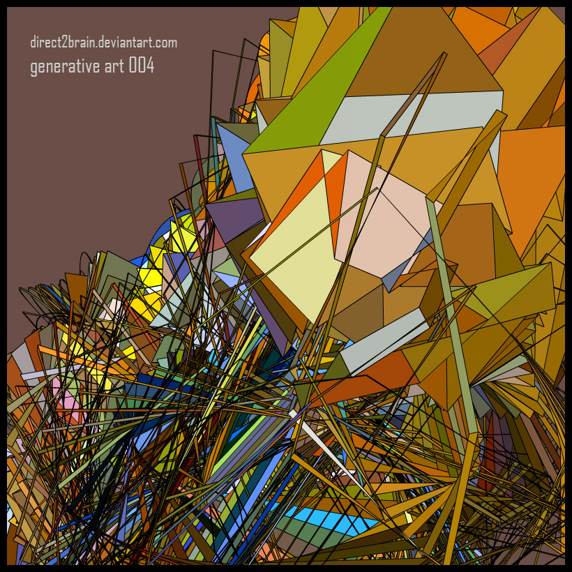 Generative Art 004 by Direct2Brain