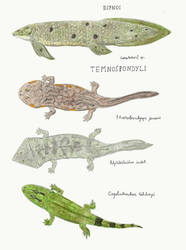 Lower Fremouw Formation: Fish and temnospondyls by DiegoOA