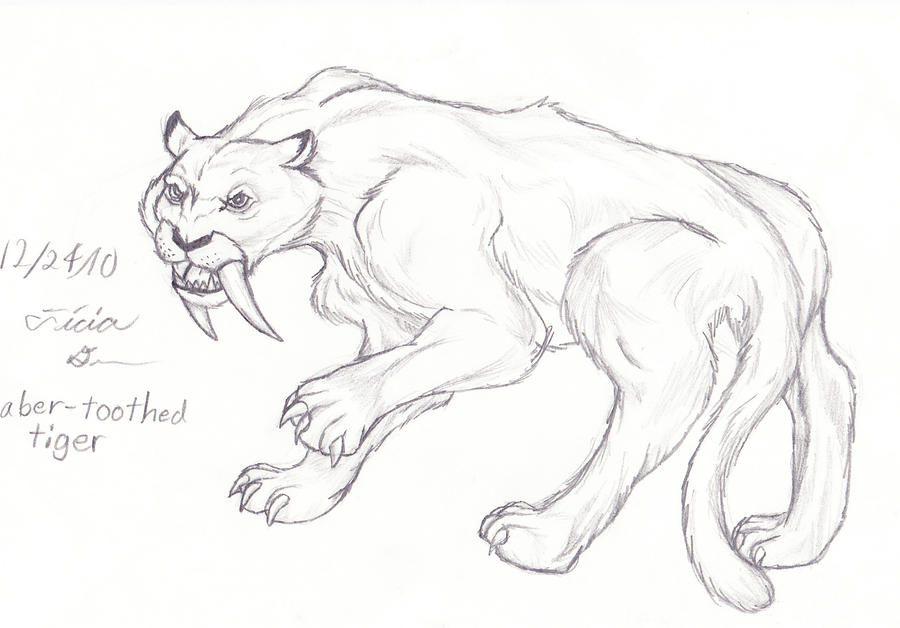 sabertooth cat coloring pages - photo#41