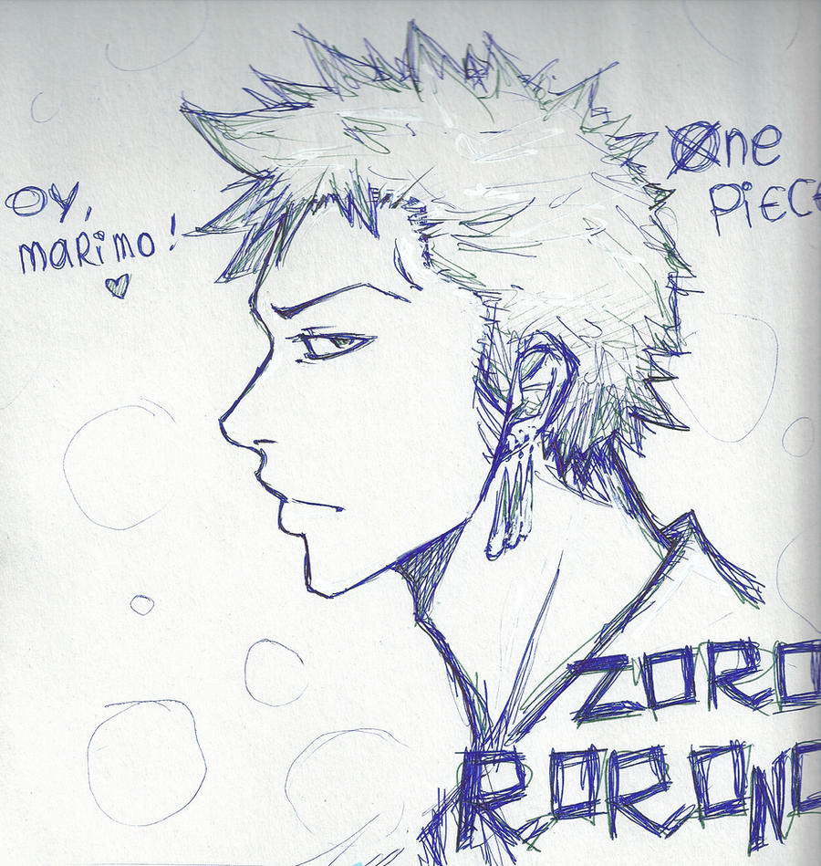 Zoro again by BreizhyGlaw