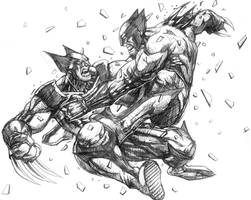 Wolverine vs. wolverine by allengeneta