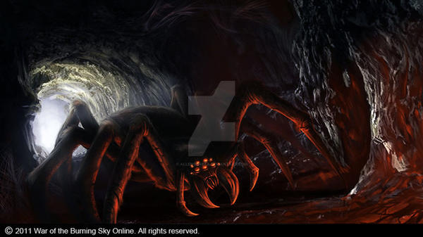 Giant spider by allengeneta