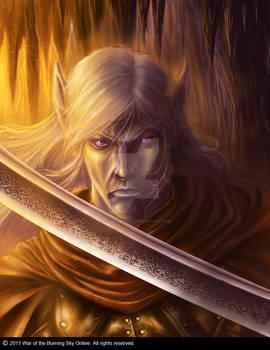 Dark elf warrior portrait