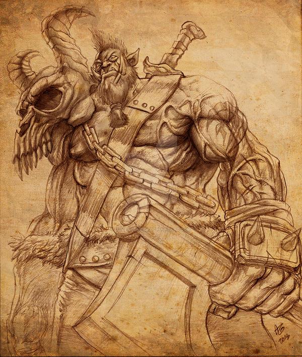 Orc Warrior by allengeneta