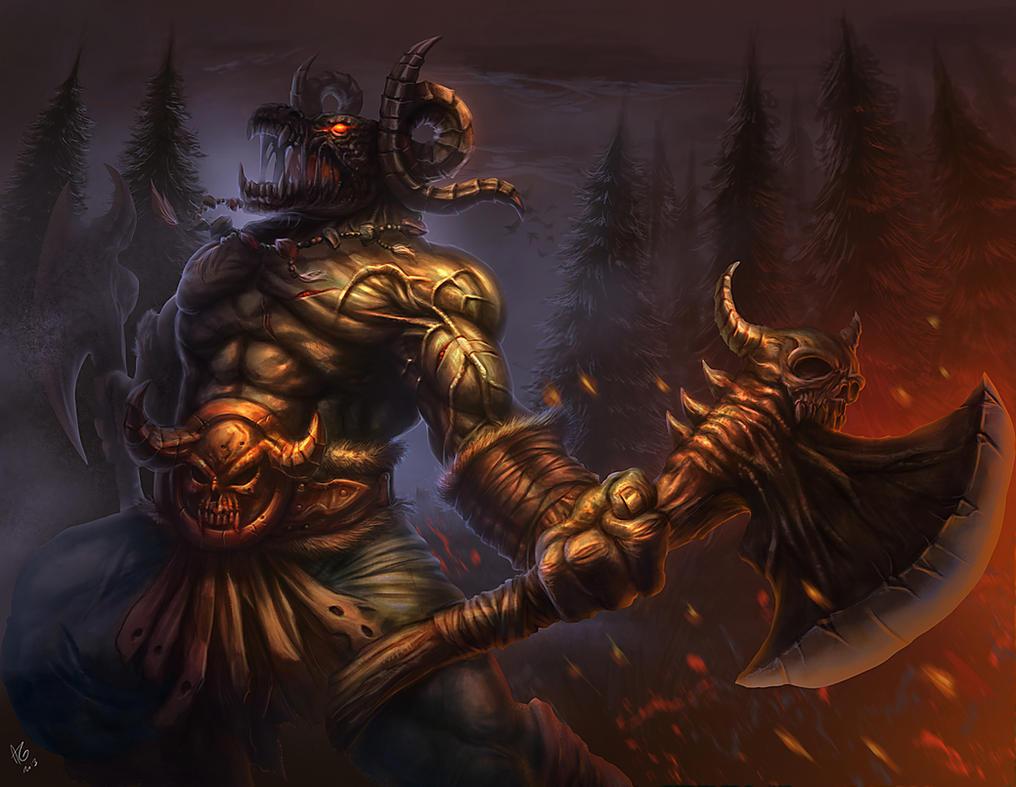 Outcast Odyssey - Monster - Undead Minotaur by allengeneta