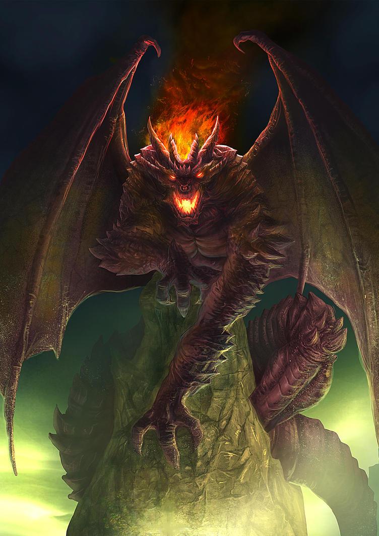 Outcast Odyssey - Dragon - Demon Dragon by allengeneta