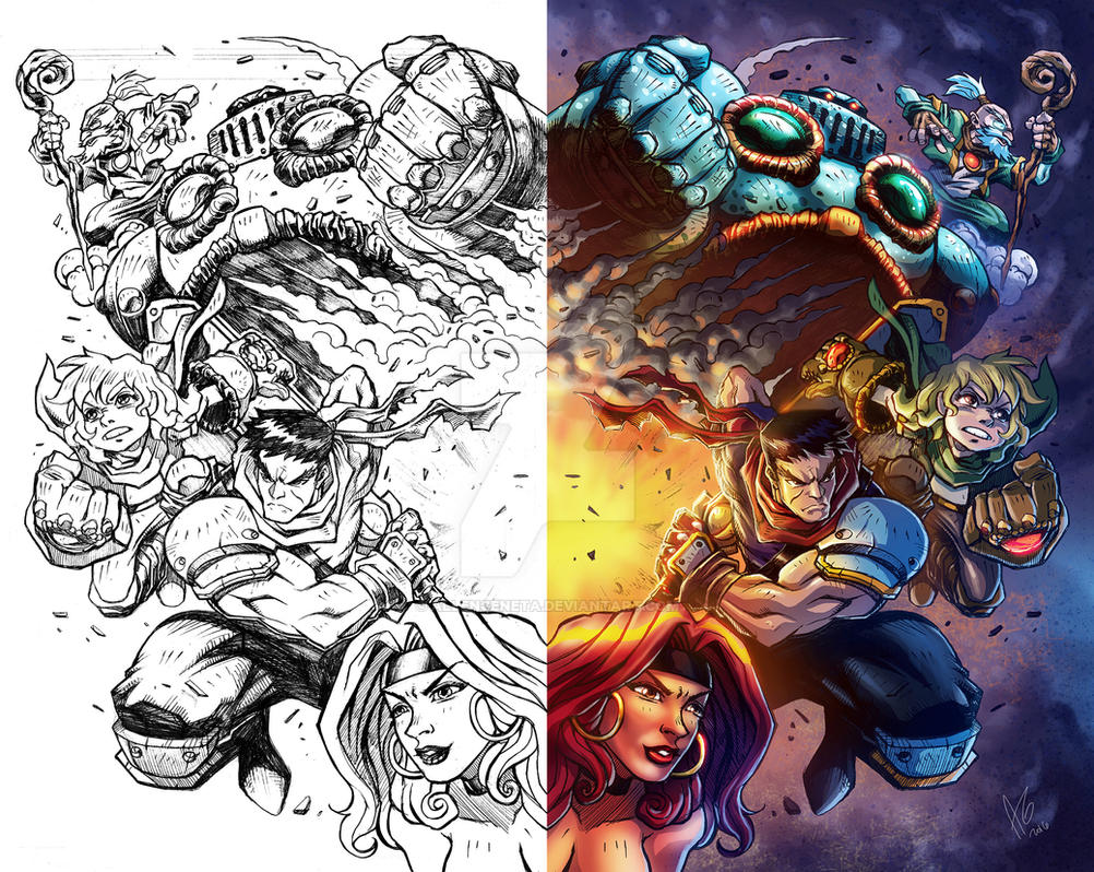 Battle Chasers color by allengeneta