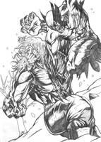 Wolvie Versus Sabretooth by allengeneta