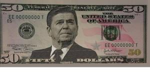 Ronald Reagan $50 Bill Design