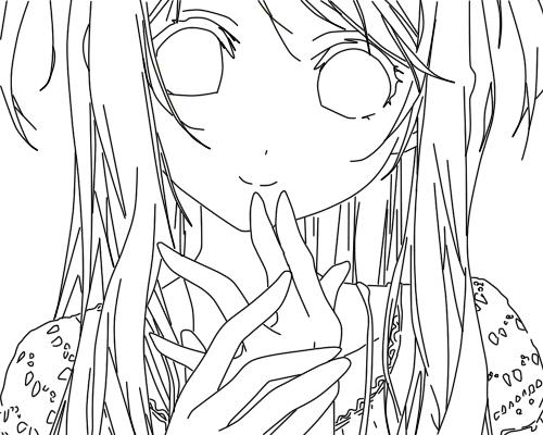 Line Art Character : Random anime character line art by naomuhiroko on