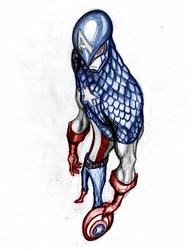 fan art capitan america by elf-x