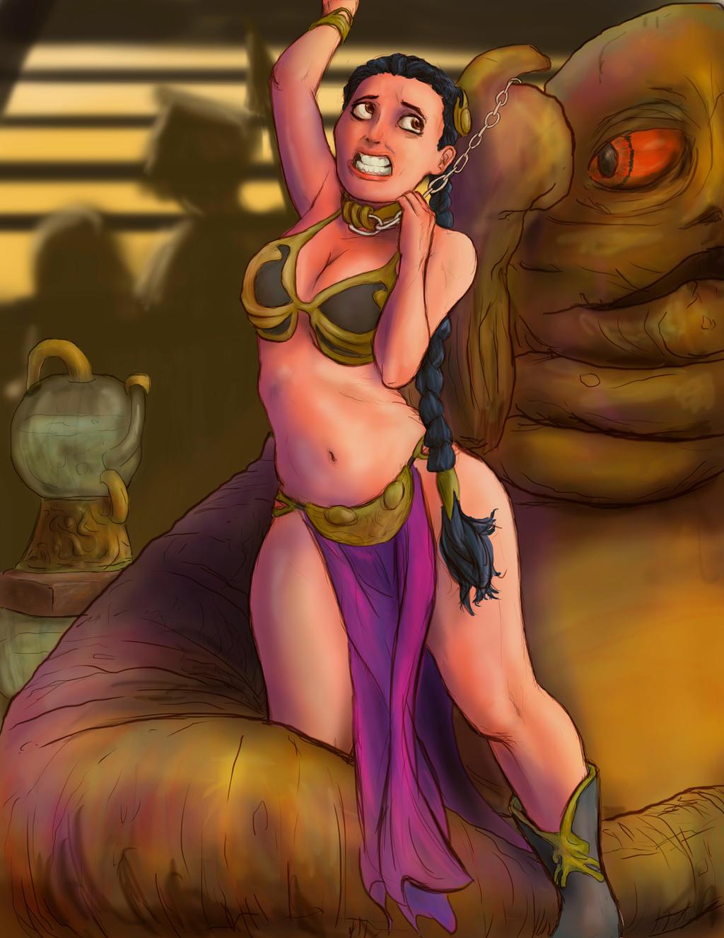 Slave Leia by gurgledog on DeviantArt