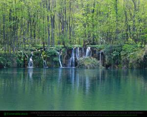 Small Waterfalls and Lake