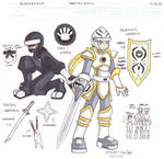 UP Concept Sketch Page: Paladin and Ninja
