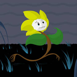 *Flowey ran away [Colored]