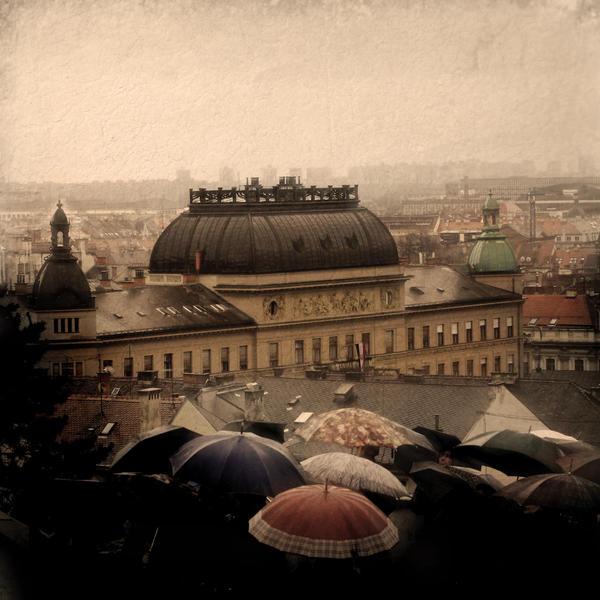 Zagreb in the rain.. by slatkatajna