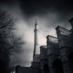 minaret Aya Sofia by slatkatajna