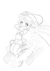 Comic Girl Line by nekoyatuneta